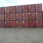 Shipping Containers stacked outside in Perth WA